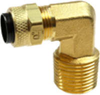 Male Elbows Poly Tube Compression Fittings