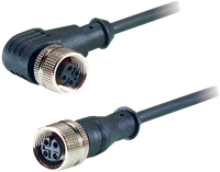 Adsens M12 Female Connector, 3, 4 and 5 pins