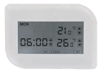 Model TLVT1 Digital Touch Screen Programmable Thermostat with Heat Pump Control