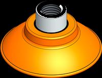 EDCO Flat-Concave Vacuum Cups XP-FC Series
