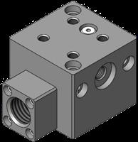EDCO Vacuum Grippers: G 3/8 Body, Dual-Venturi