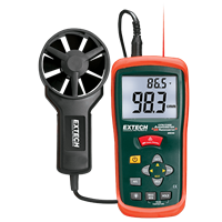 AN200 CFM/CMM Mini Thermo-Anemometer with built-in Infrared Thermometer