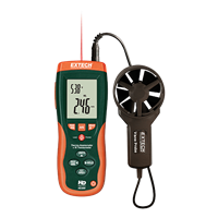 HD300 CFM/CMM Thermo-Anemometer with built-in Infrared Thermometer