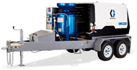 EcoQuip 2 EQ200t Elite Towable blasting trailer with 200 CFM @ 125 psi Compressor