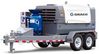 EcoQuip 2 EQ400t Elite Towable blasting trailer with 425 CFM @ 175 psi Compressor