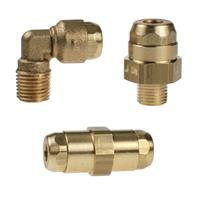 Brass Push-In Fittings for Lubrication & Vacuum Systems - LF 6100