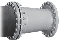 Concentric Rubber Lined Steel Reducer