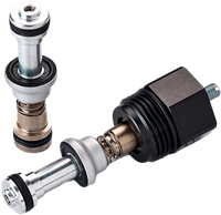 Pneumatic Cartridge Valve for a Manifold, Cv=4 with Flow Control