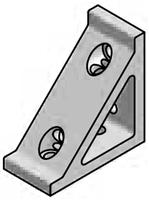 T-Slot Aluminum Framing - Brackets, Gussets & Plates