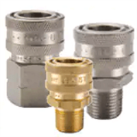 High Flow (Unvalved) - Brass, Stainless Steel, Steel Quick Couplings (Hydraulic, fluids) up to 6700 psi - ST Series Couplers