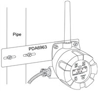 """PDA6963-SS Stainless Steel 2"""" Pipe Mounting Kit for PDW30"""
