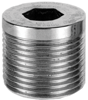 "PDAPLUG50 1/2"" NPT 316 Stainless Steel Stopping Plug with Approvals"