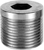 "PDAPLUG75 3/4"" NPT 316 Stainless Steel Stopping Plug with Approvals"