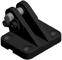 Mounting Bracket with Pivot Pin for Spherical Bearing Rod Eye - Metric Attachment, Cylinder Accessories