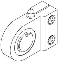 Spherical Bearing Rod Eye - Series SE, Cylinder Accessory