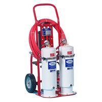 Twin Housing LightWeight, Portable Handcart Filter Pump for Oils & Fuels