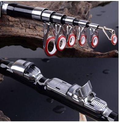 Aluminum Alloy Portable Combo Mini Pocket Pen Fishing Rod extended length 1.5 m