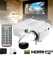 Mini Projector, UC28B Portable Home Theater Multimedia LED Projector Support USB TF Card