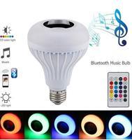 Smart 3w E27 Bulb RC Colorful LED Light Portable Bluetooth 3 Speaker Remote 160 degree LED Bulb Music Light